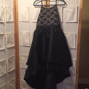 nickie lew Dresses - Black lace and taffeta dress. Juniors size 16